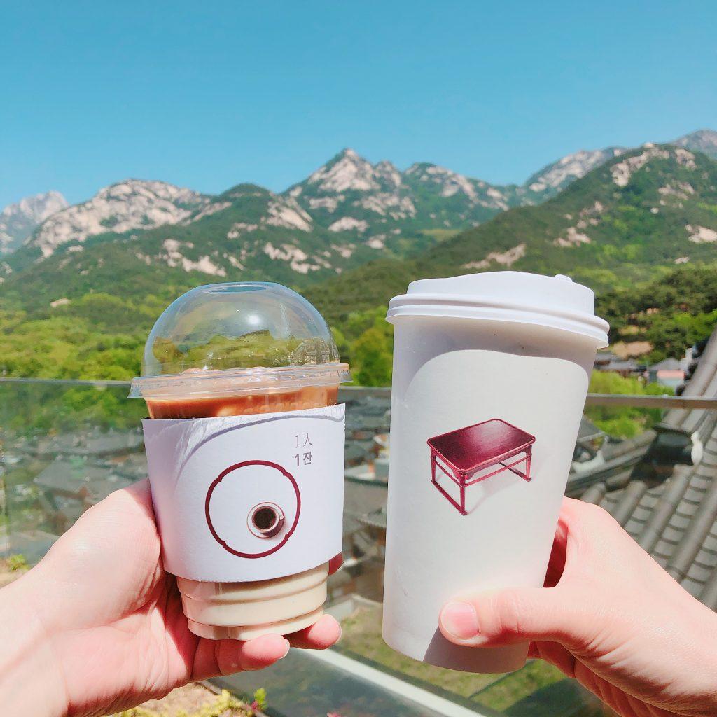 【恩平】韓屋村を眺めながらゆっくりできる素敵カフェ&レストラン/1人1杯